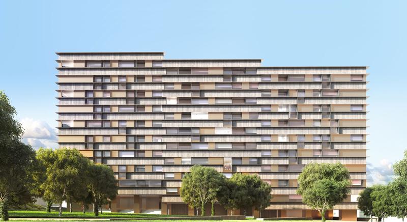 Infografía del Edificio Parque San Roque, de Vigo